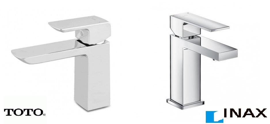 Vòi lavabo INAX và TOTO